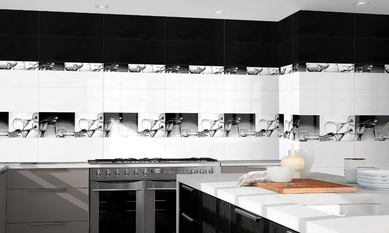 revêtement mural cuisine 1er choix format 20x50 noir