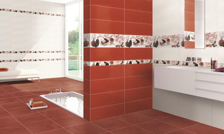 revêtement mural mate 1er choix format 20x50 rouge